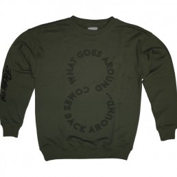 crewneck, pigscode, unfollow your leaders, karma, unfollow, army green