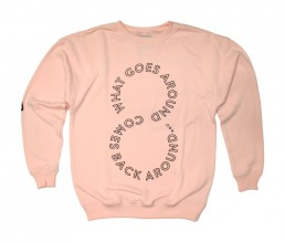 crewneck, pigscode, unfollow your leaders, karma, unfollow, pink