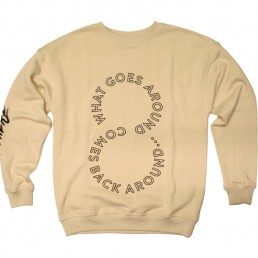 crewneck, pigscode, unfollow your leaders, karma, unfollow, sand