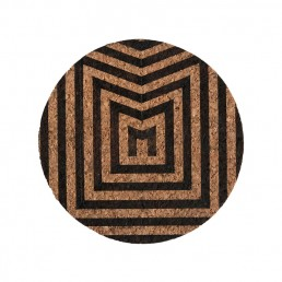 eco friendly cork coaster laser design monotone pigscode
